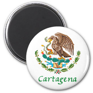 Cartagena Mexican National Seal 2 Inch Round Magnet