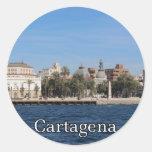 Cartagena souvenir and gift round sticker