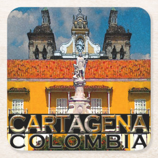 Cartagena Square Paper Coaster
