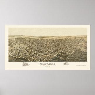 Cartago, mapa panorámico del MES - 1891 Impresiones