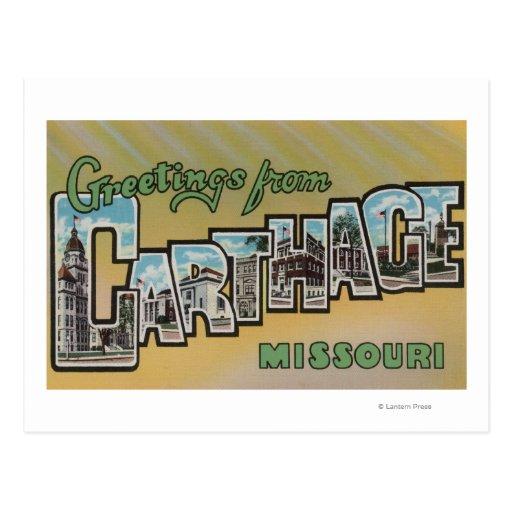 Cartago, Missouri - escenas grandes de la letra Postal