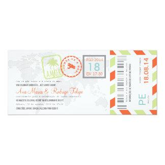"""Cartão de Embarque Bilhete Passagem Aérea Invitación 4"""" X 9.25"""""""