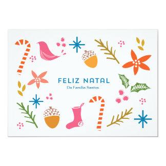 Cartão festivo Doodles do Feliz Natal Card
