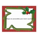 """Cartão para foto """"Lembrança natalina"""" Cartoes Postais"""