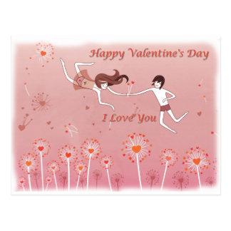 Cartão-Postal Happy Valentine's Day Postcard
