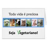 Cartão Seja vegetariano