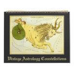 Cartas 2016 de estrella de las constelaciones de calendarios