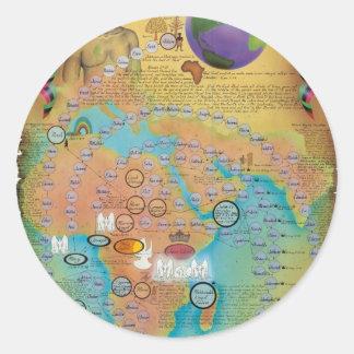 Cartas bíblicas de la genealogía pegatina redonda
