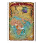 Cartas bíblicas de la genealogía tarjeta