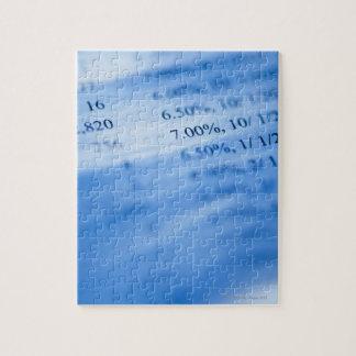 Cartas de las actividades bancarias puzzle con fotos