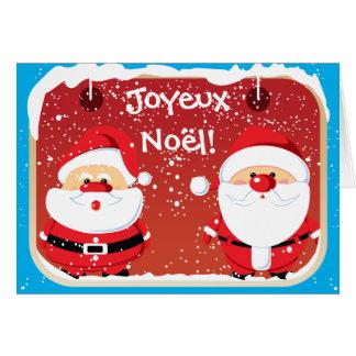 Cartas de Père Noël Papá Noel Felicitacion