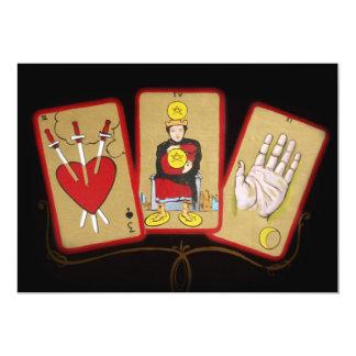 """Cartas de tarot (1) invitación 5"""" x 7"""""""