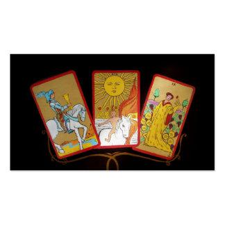 Cartas de tarot (2) tarjetas de visita