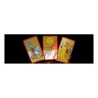 Cartas de tarot (2) tarjetas de visita mini