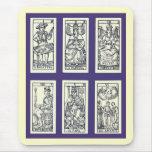 Cartas de tarot del español del vintage alfombrilla de raton
