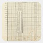 cartas litografiadas de las finanzas y del calcomanías cuadradass
