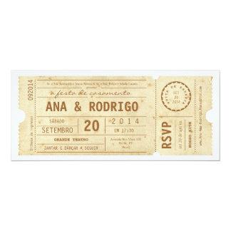 Cartaz convite de casamento do teatro do vintage card