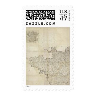 Carte de la France NO Postage