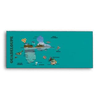 carte de la Guadeloupe madras Envelopes