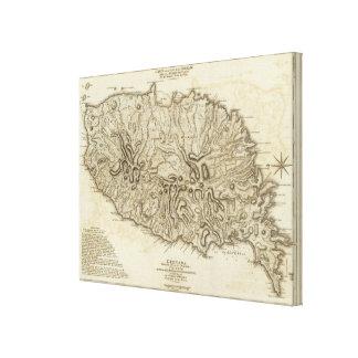 Carte de l'Isle de la Grenade Canvas Print