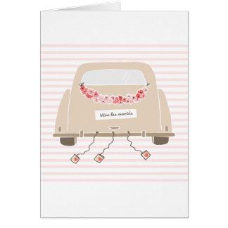 """Carte de mariage """"vive les mariés"""" card"""