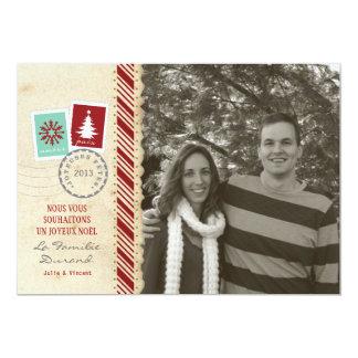 Carte de Noël Vintage Photo 5x7 Paper Invitation Card