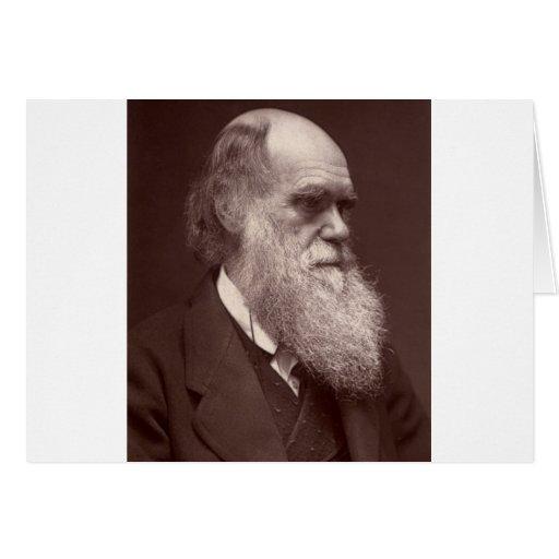 Carte de visite photograph of Charles Darwin Greeting Card
