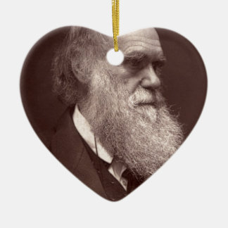 Carte de visite photograph of Charles Darwin Ceramic Ornament