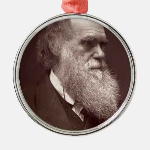 Carte de visite photograph of Charles Darwin Metal Ornament