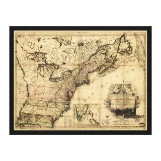 Carte des Etats-Unis de l'Amerique (1783) Canvas Print