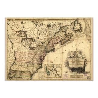 Carte des Etats-Unis de l'Amerique (1783) Card