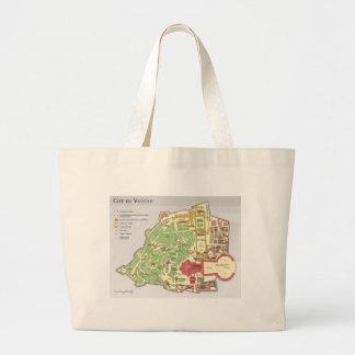 Carte du Cité du Vatican Diagramme Tote Bags