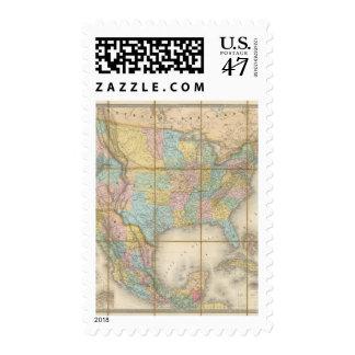 Carte Generale Des Etats Postage Stamp