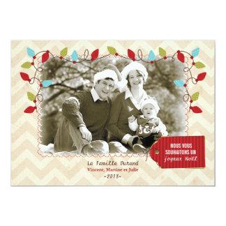 Carte photo de Noël 5x7 Paper Invitation Card