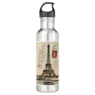 Carte Postale 24 oz. Stainless Steel Stainless Steel Water Bottle