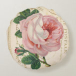 "Carte Postale Avec Rose Cotton Pillow (16"")<br><div class=""desc"">If you"