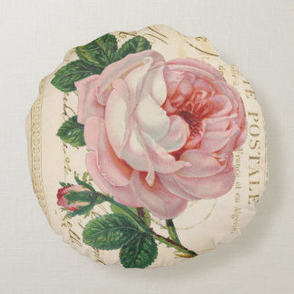 "Carte Postale Avec Rose Cotton Pillow (16"")"