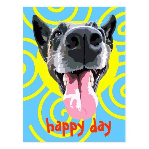 Carte postale happy day tarjetas postales