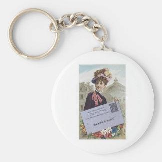 Carte Postale Mayot A Rethel Basic Round Button Keychain