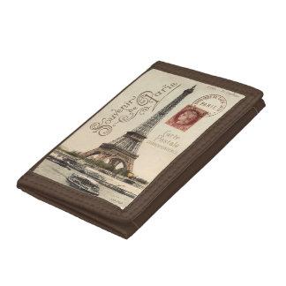 Carte Postale Tri-fold Nylon Wallet