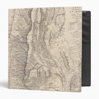 Carte, provinces de La Rioja San Juan Vinyl Binder