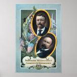 Cartel 1904 de la elección de Teddy Roosevelt Póster