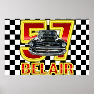 Cartel 1957 del Bel Air de Chevy Póster