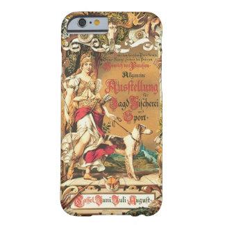 Cartel caza un pesca exposición antes de 1890 funda para iPhone 6 barely there