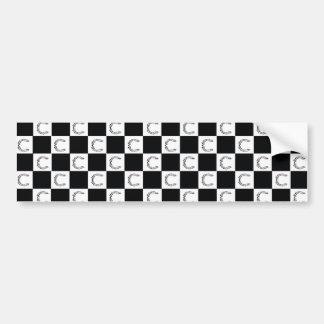 Cartel checkered logo sticker