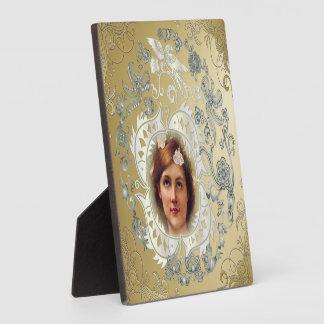 Cartel conmemorativo de la imagen de la exhibición placas con fotos