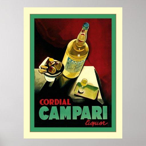 Cartel cordial del alcohol del vintage del ~ de póster