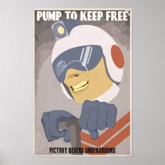 Cartel cuarto de la propaganda del juego de arcada póster