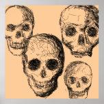 Cartel de cuatro cráneos poster