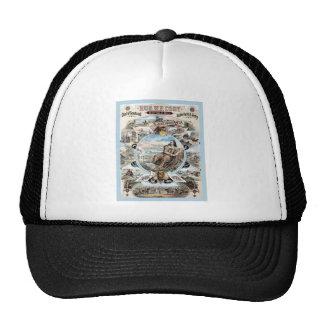 Cartel de la publicidad del vintage del ~ de gorra